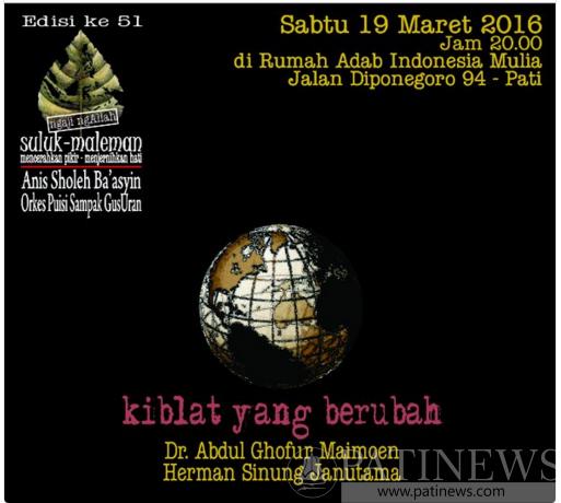 Suluk Maleman Kiblat Yang Berubah, Sabtu 19 Maret 2016