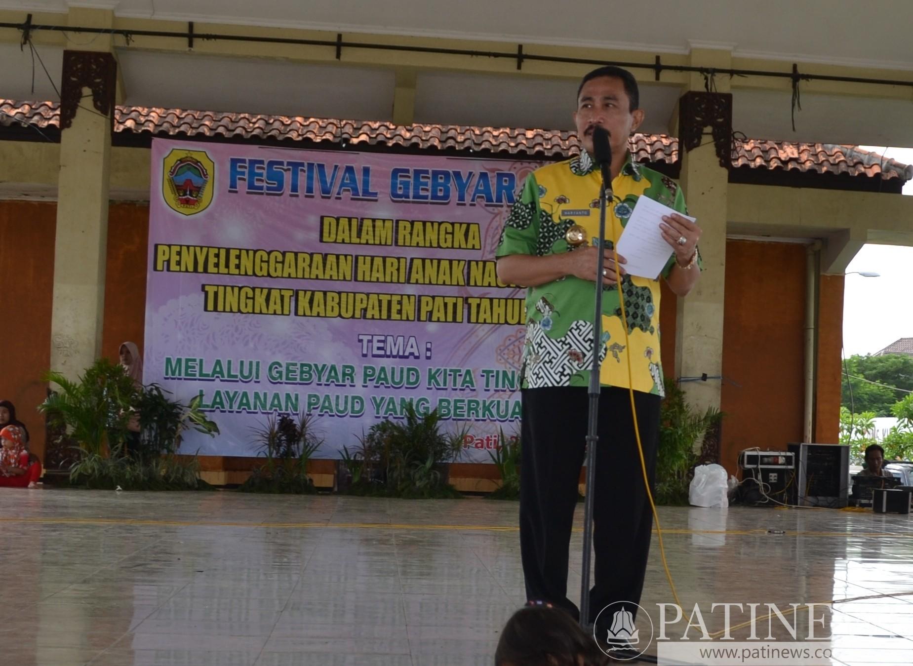 Bupati Pati Buka Festival Gebyar PAUD 2016