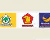 Logo Partai Golkar Gerindra dan Nasdem