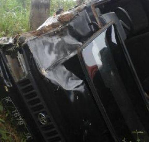 Kecelakaan Di Pati Hari Ini, Hindari Motor Kijang Brondol Masuk Parit