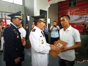 HUT RI 71, 167 Warga Binaan Lapas Pati Terima Remisi