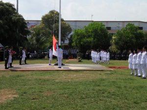 Upacara Pengibaran Bendera di Alun - alun Pati Berlangsung Khidmad