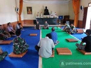 Dandim Pati Kunjungi Vihara Mettamenggala Cluwak
