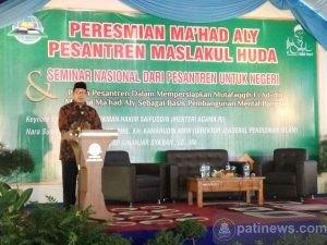 Menteri Agama Resmikan Ma'had Aly Pesantren Maslakul Huda Kajen Margoyoso