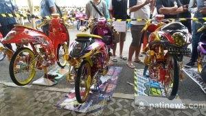 Kontes Motor Modifikasi Digelar di Pasar Pragola Pati