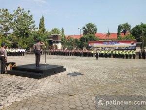 Polres Pati Gelar Apel Pengamanan Unjuk Rasa 4 November di Pati