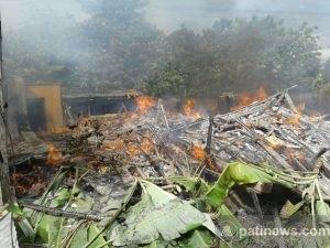Konsleting Listrik, Satu Rumah di Jaken Ludes Terbakar