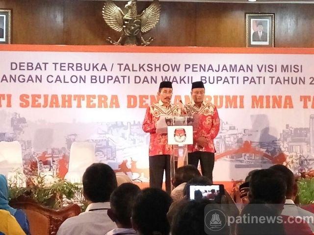 Debat Pilkada Pati, Haryanto-Arifin Pertajam Visi dan Misi