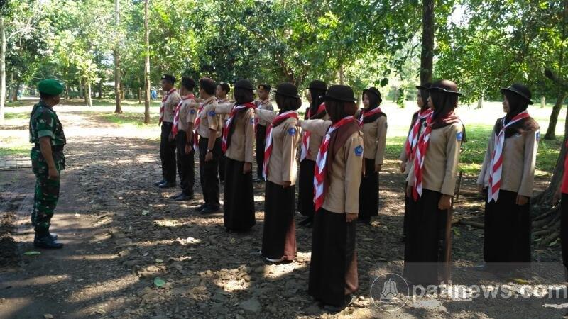 SMK Farming Tlogowungu, Berlatih PBB Bareng Anggota Koramil