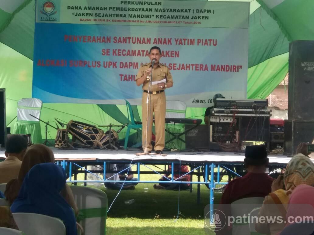 Bupati Haryanto Serahkan Bantuan Kepada 354 Anak Yatim se Kecamatan Jaken