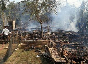Dua Rumah di Desa Padangan Winong Ludes Terbakar