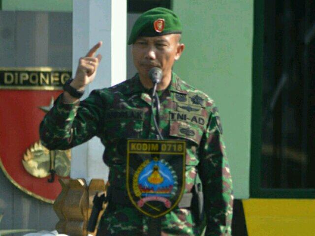 Upacara Minggu Militer Kodim 0718 Pati, Tumbuhkan Jiwa Patriotisme