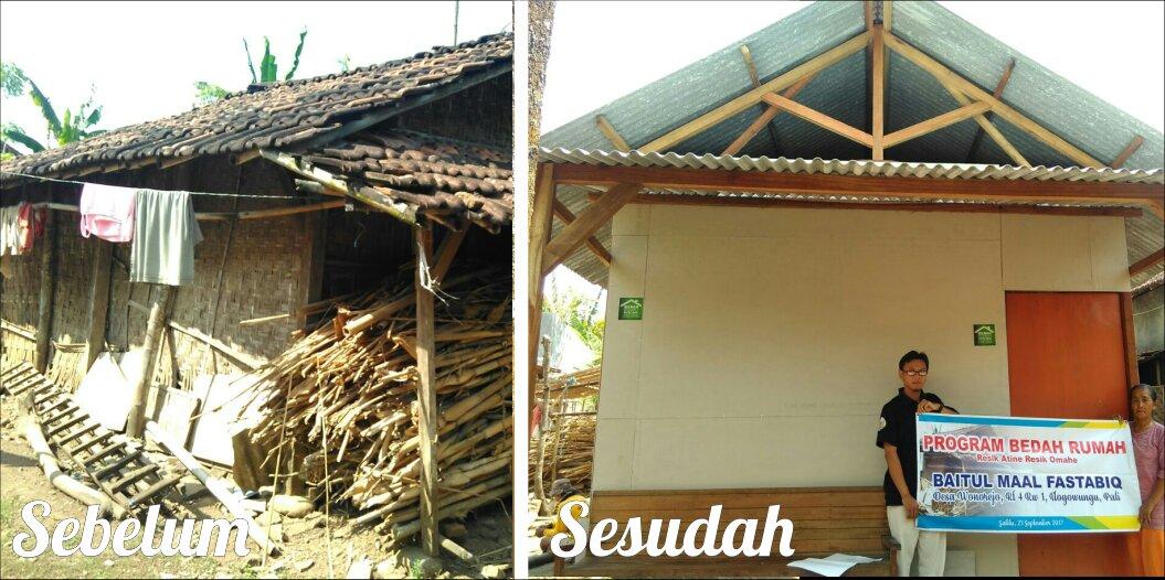Senyum Bahagia Bu Suwarti Melihat Rumahnya Kini Bersih, Karena Program Bedah Rumah Fastabiq