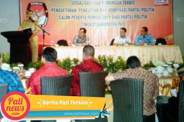 Antisipasi Suhu Politik Naik, KPUD Pati Gelar Bintek Parpol