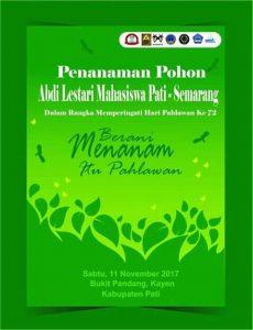 Abdi Lestari Mahasiswa Pati-Semarang, Bakal Tanam Pohon di Bukit Pandang Kayen