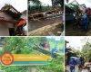 Angin Puting Beliung Rusak Rumah di Gunungrowo, Juga Tumbangkan Puluhan Pohon