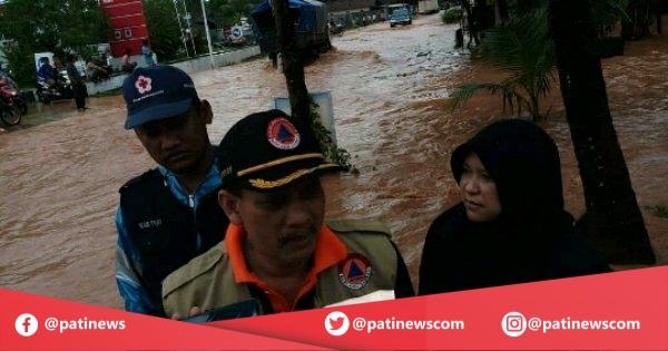Kepala BPBD Pati Tinjau Lokasi Banjir di Kecamatan Dukuhseti