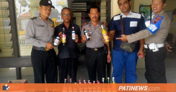 Polres Pati Gencarkan Operasi Miras, Ratusan Botol Berhasil Disita