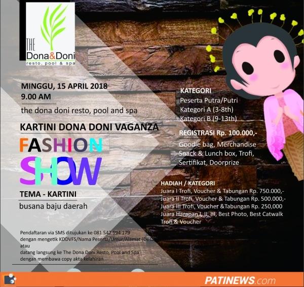 Sambut Hari Kartini, The Dona Doni Resto Gelar Fashion Show, Ini Jadwalnya