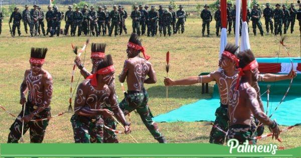 Tarian Papua Tampil Apik, Saat Penutupan TMMD di Desa Godo