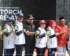Brimob Pati Amankan Torch Relay Asian Games di Grobogan