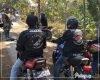 Bukan Balapan, Puluhan Anggota Club Motor RX Ini Justru Bantu TNI