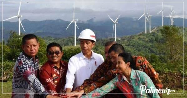 """Resmikan """"Taman Angin"""" Pertama di Indonesia, Presiden Jokowi: Serasa di Eropa"""