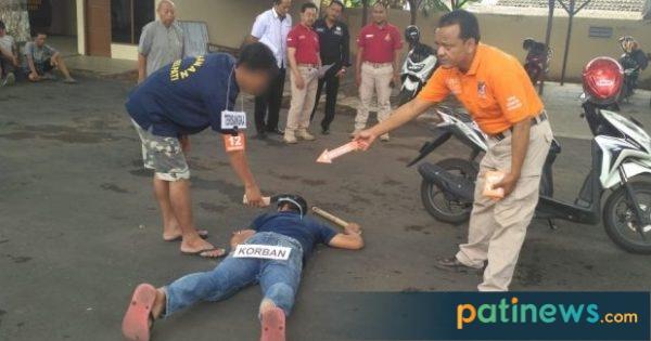 Polres Pati Gelar Rekontruksi Kasus Pembunuhan TKP di Gabus