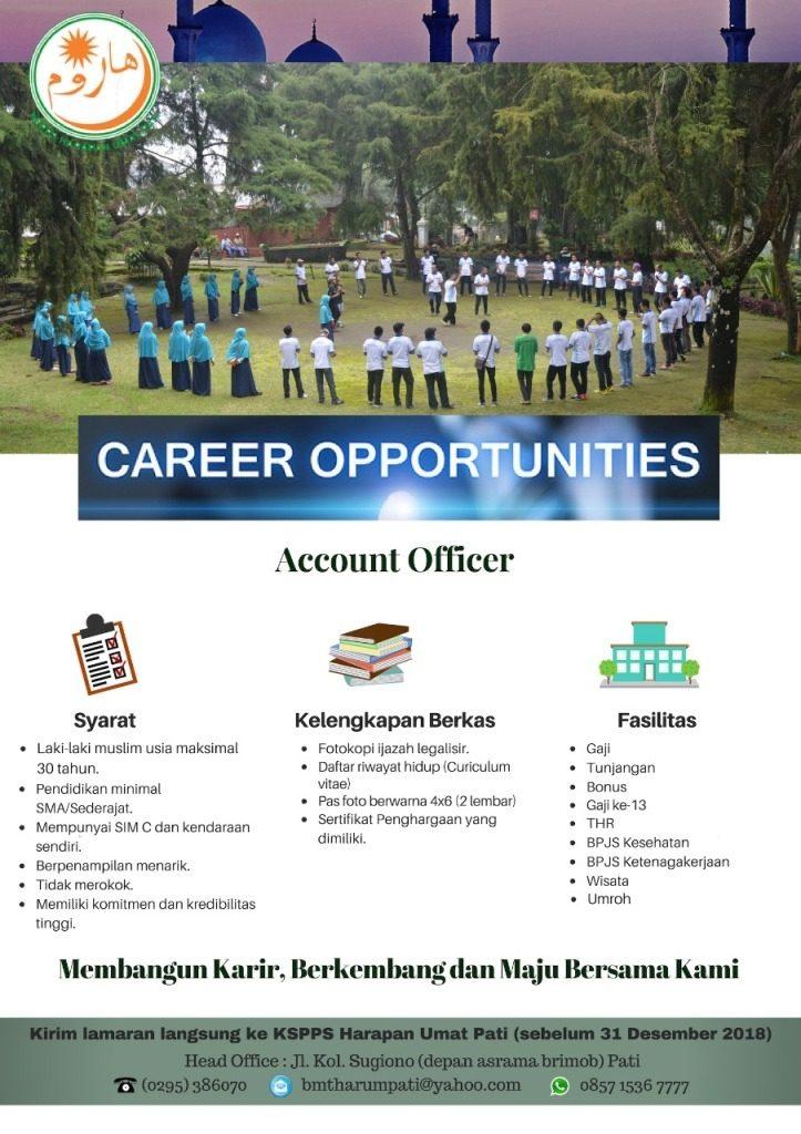 KSPPS Harapan Umat Pati Buka Lowongan Kerja Account Officer, Ini Persyaratannya