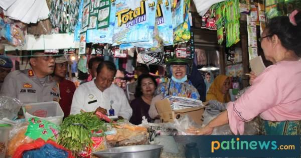 Pastikan Harga Kebutuhan Pokok Stabil, Satgas Pangan Daerah Sidak ke Pasar Puri