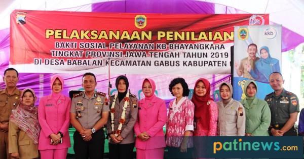 Tim Penilai KB Bhayangkara Tingkat Jateng, Kunjungi Desa Babalan Gabus