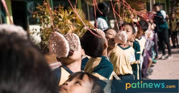 Semarakkan HUT RI, Mahasiswa Undip di Desa Durensawit Kayen Adakan Lomba Bersama Siswa SD