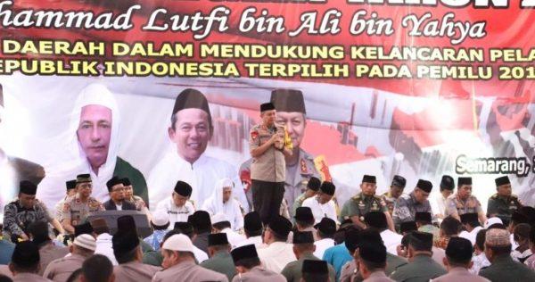Jelang Pelantikan Presiden, TNI Polri dan Masyarakat Jateng Gelar Doa Bersama