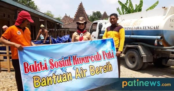 Kwarcab Pati Kirim Bantuan Air Bersih