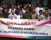 Ciptakan Pilkades Damai, Bakal Calon Kades Enam Desa di Gabus Gelar Deklarasi