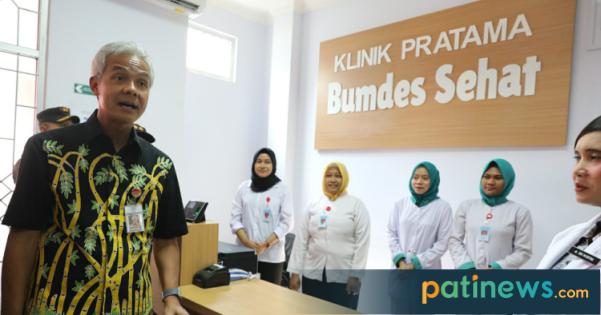 Satu-satunya di Indonesia, Ganjar Pranowo Resmikan Klinik Pratama Bumdes Sehat di Tlogowungu Pati