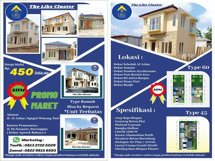 The Like Cluster, Perumahan Strategis di Tengah Kota Pati